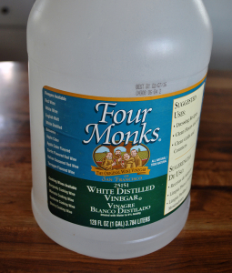 Bottle of Four Monks Vinegar