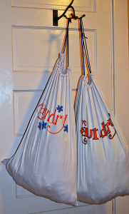 Laundry bags made from pillowcases