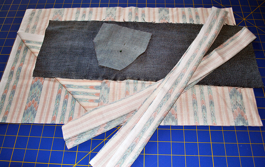 Cut fabric ready to sew