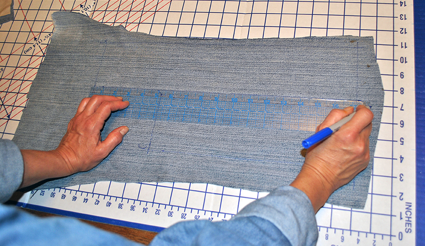 Measure out the cover fabric