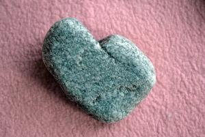 granite heart-shaped rock