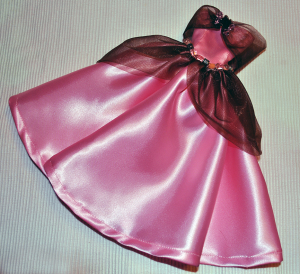 pink and brown gown