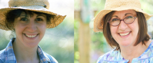 Then and Now shots of me and my favorite garden hat